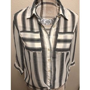 Tops - New List! Striped sheer top